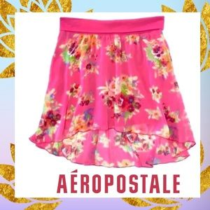 XS/TP🆕HiLo Pink Floral Stretch Mini Skirt